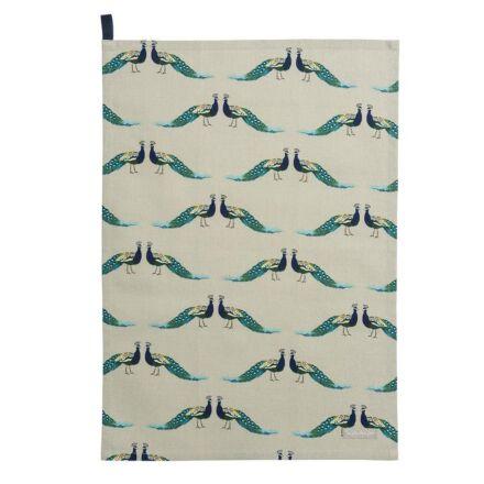 Sophie Allport Peacocks Tea Towel