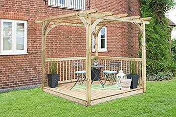 Forest Garden Ultima Pergola & Decking Kit 2.4 x 2.4m