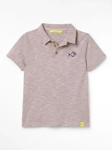 White Stuff Boys Peter Polo Organic T-Shirt Pink