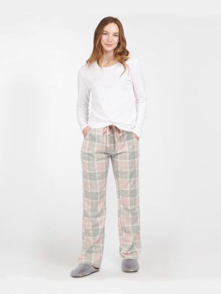 Barbour Phoebe Pyjama Set Pink Tartan