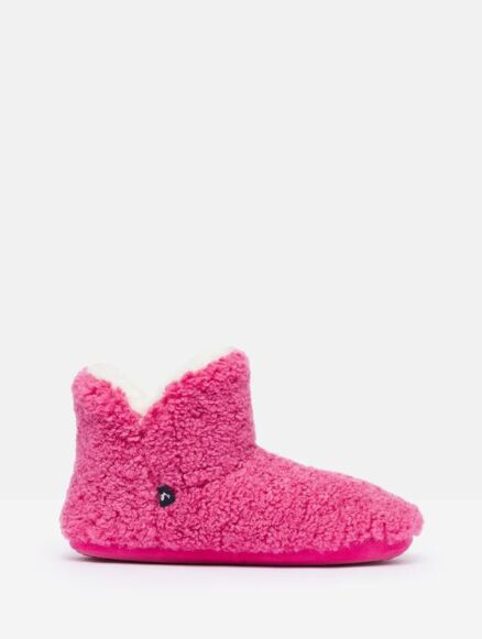 Joules Cabin Luxe Slippers Pink