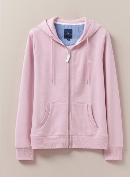 Crew Clothing Heritage Zip Hoodie Pink