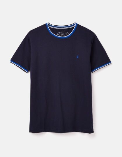 Joules Light Pique Crew Neck Tee French Navy