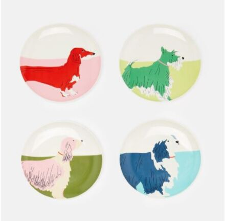 Joules Dog Multi Plates 4 Pack