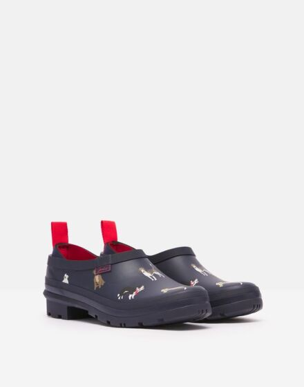 Joules Pop On Printed Welly Clogs Navy Show Dogs