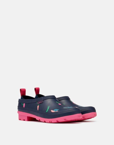 Joules Pop On Printed Welly Clogs Navy Veggies