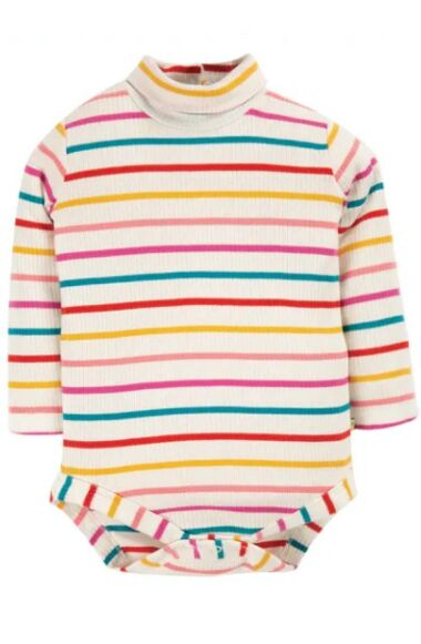 Frugi Poppy Roll Neck Body Ginger Rainbow Breton