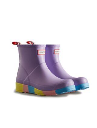 Hunter Women's Play Short Stripe Sole Boot Lavender Mist