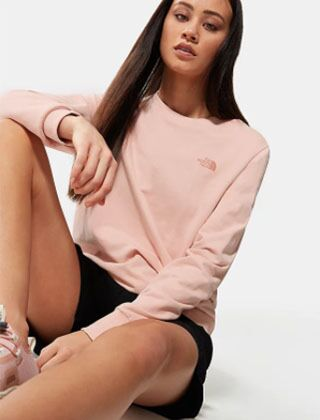 The North Face Pud Crew Sweater Evening Sand Pink
