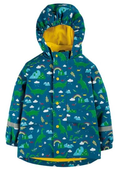 Frugi Puddle Buster Coat Loch Blue Nessie