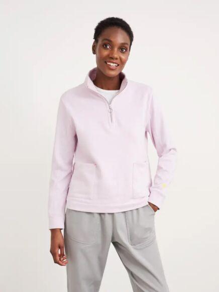 White Stuff Half Zip Sweat Light Purple