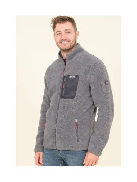 Brakeburn Zip Through Fleece Grey