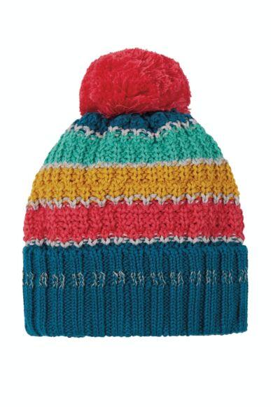 Frugi Abisko Bobble Hat Grey Marl Rainbow