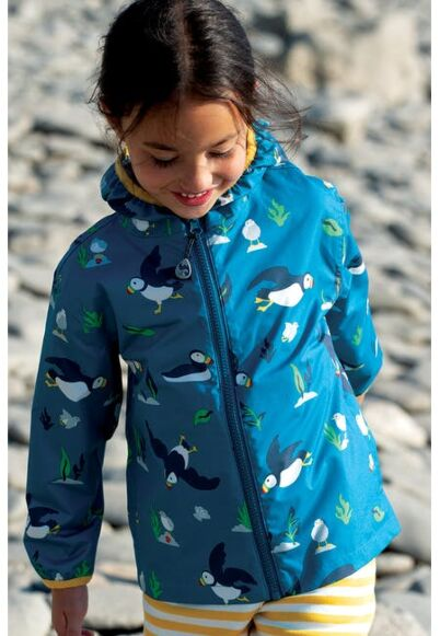 Frugi The National Trust Pioneer Packaway Jacket Puffin