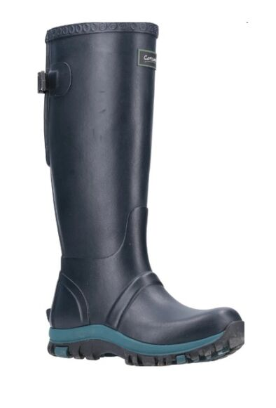 Cotswold Realm Adjustable Wellingtons Navy/Teal
