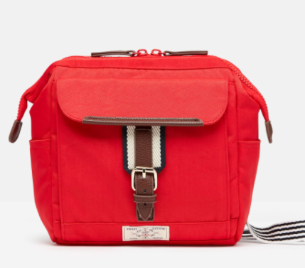 Joules Wells Cross Body Canvas Bag Red