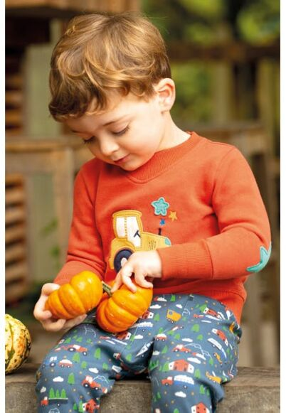 Frugi Easy On Jumper Falun Red/Tractor