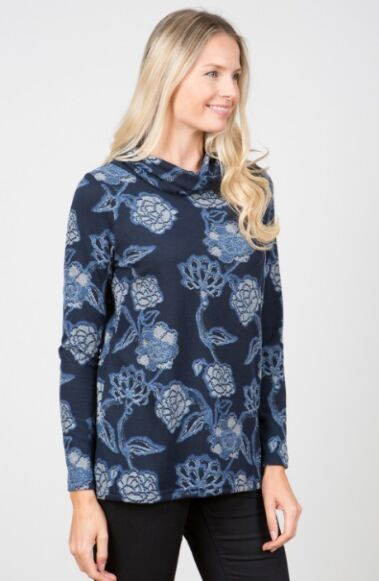 Lily and Me Relaxed Everyday Kimono Jumper Navy