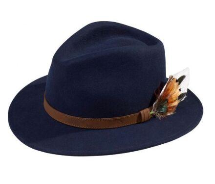 Alan Paine Richmond Unisex Felt Hat Navy