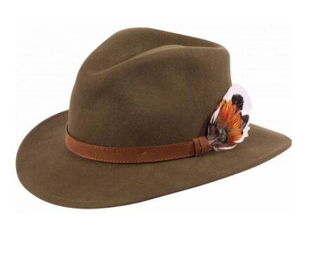 Alan Paine Richmond Unisex Felt Hat Olive