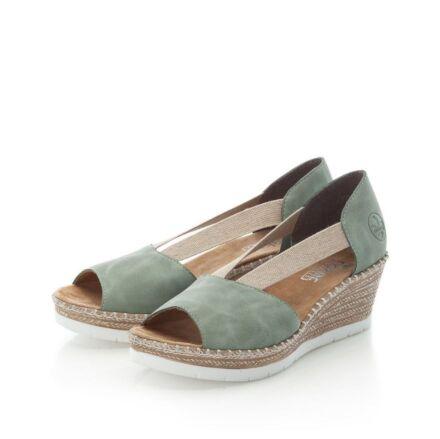 Rieker 619X1-52 Ladies Slip On Sandals Green