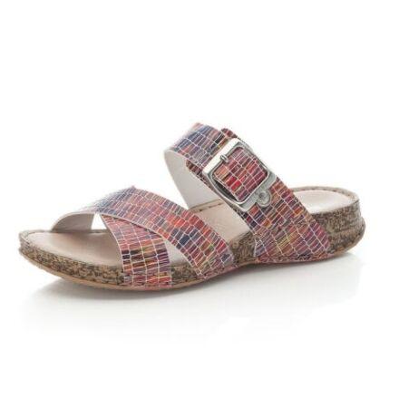 Rieker Ladies Slip On Sandals Multi