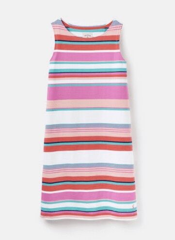 Joules Riva Sleeveless Jersey Dress Multi Stripe