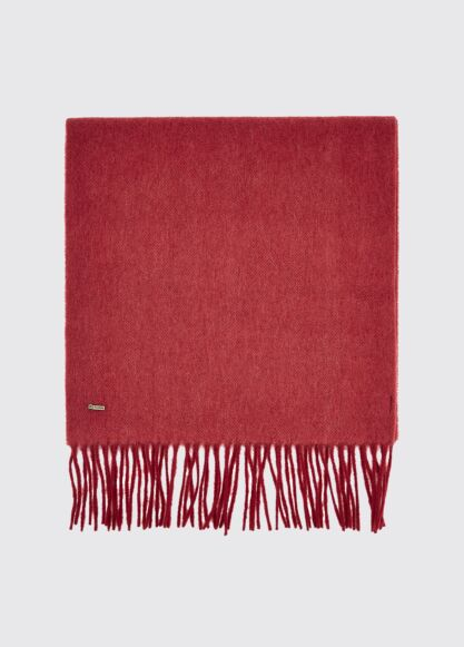 Dubarry Robinson Wool Scarf Ruby