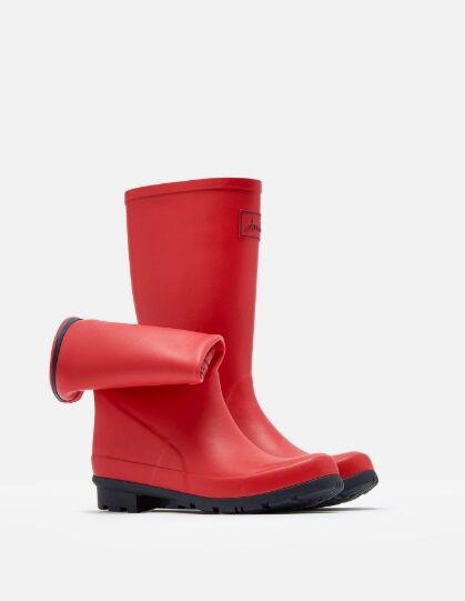 Joules Roll Up Welly Red