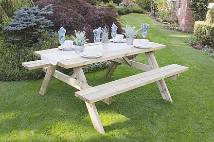Forest Gardens Rectangular Picnic Table Large