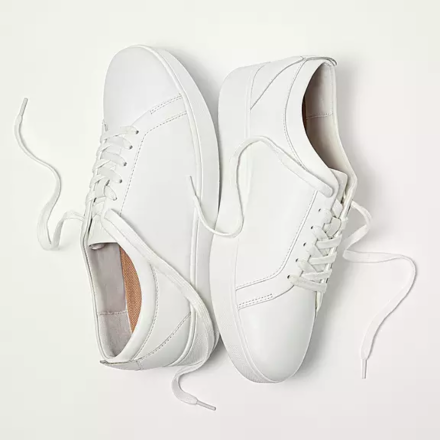 Fitflop Rally Leather Trainers Urban White