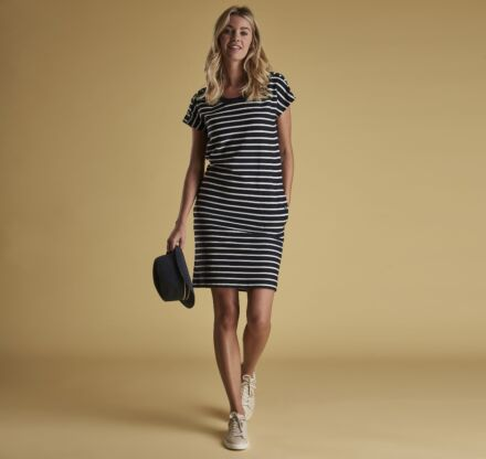 Barbour Sailboat Dress Navy/White Clearance - 10