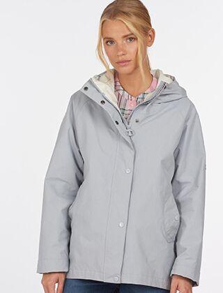 Barbour Salcombe Waterproof Jacket Grey Dawn