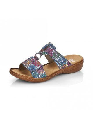 Rieker 608P9-10 Sandal Blue