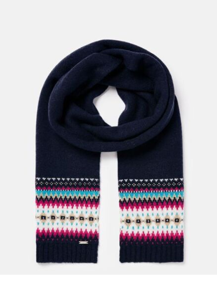 Joules Janelle Fairisle Scarf French Navy