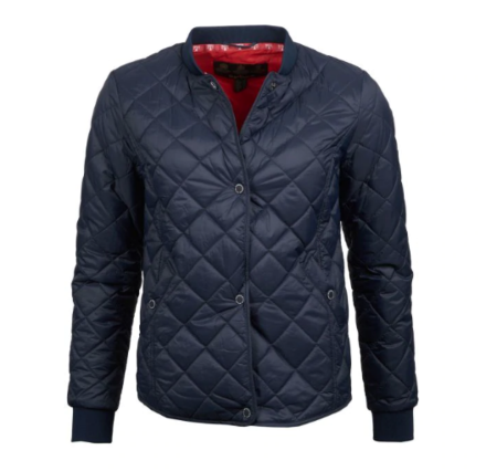 Barbour Applecross Quilted Jacket Navy Coastal Red