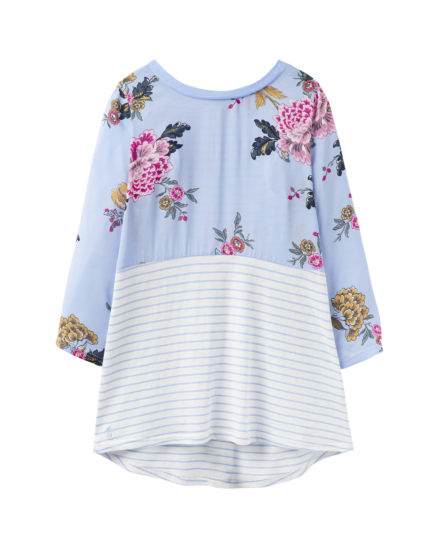 Joules Sonya Jersey Top Light Blue Chinoise