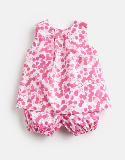 Joules Baby Felicity Woven Top And Bloomer Set Pink Multi Spot