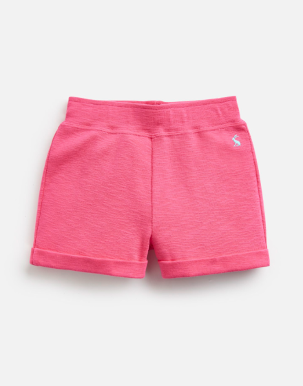 Joules Girls Kittiwake Jersey Shorts Bright Pink