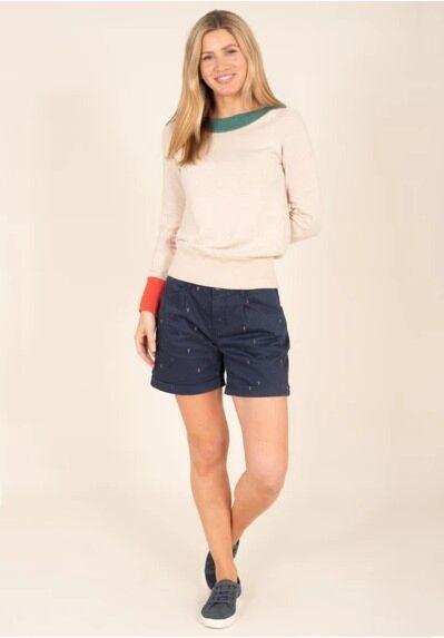 Brakeburn Embroidered Shorts Multi