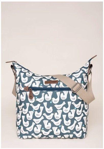 Brakeburn Geo Birds Hobo Bag Blue