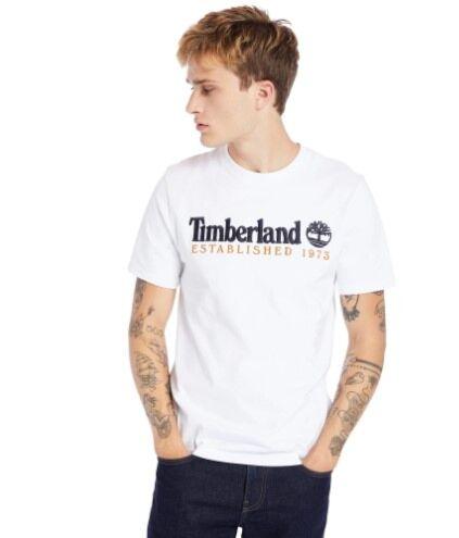 Timberland Linear Tee White