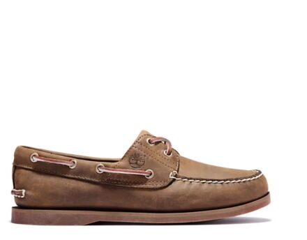 Timberland Classic Boat Shoe 2 Eyelet Medium Brown Full Grain