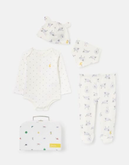 Joules The Organic 4 Piece White Sheep