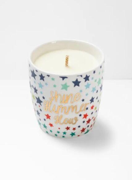 White Stuff Shine Shimmer Glow Candle