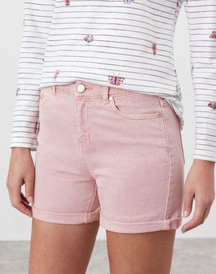 Joules Shirley Denim Shorts Pink