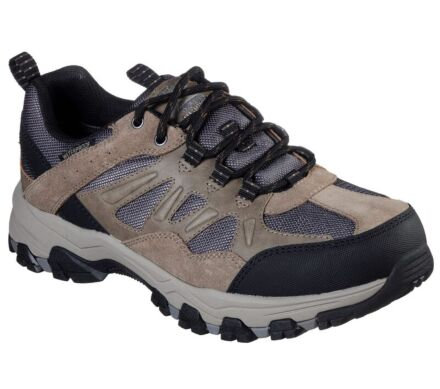 Skechers Selmen - Enago Waterproof Lace Up Trainer Tan