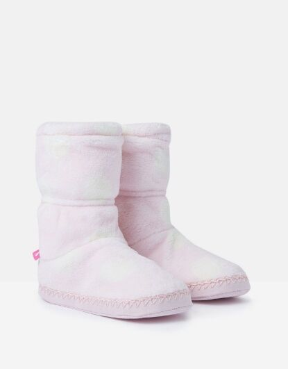 Joules Girls Padabout Slippersocks Pink Spot