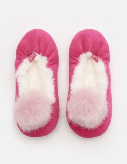 Joules Girls Slippom Slippers True Pink
