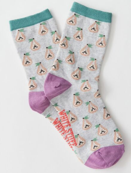 White Stuff Sergia Sloth Sock Grey Multi